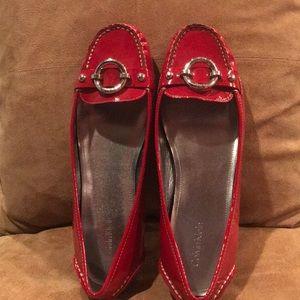 NWOT  Red Patent Calvin Klein Flat🍎